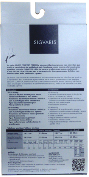 Meia Panturrilha Medicinal Select Comfort (862 Ad) Sem Ponteira - 20-30 Mmhg Cor: Bege Tam: M/C