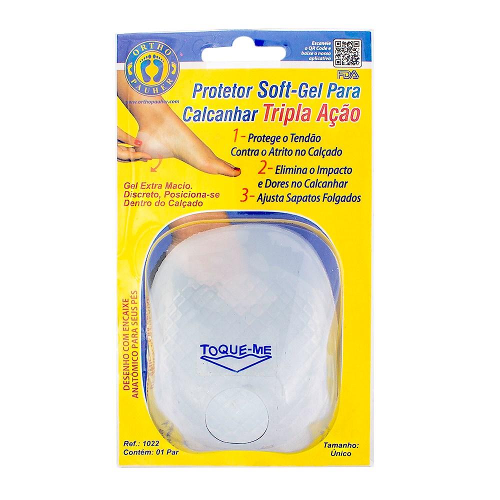 Protetor Soft-Gel Para Calcanhar Tripla Ação  Tam: Único