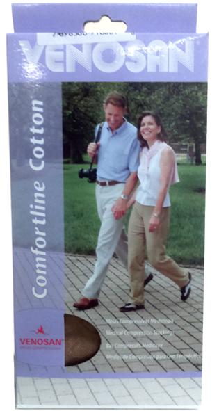 Venosan Comf. Cotton 20/30 Ad Pé Aberto Cor: Bege Tam: P/L