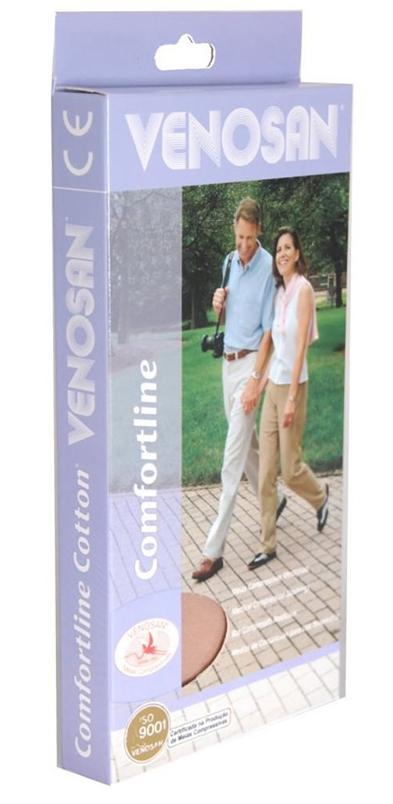 Venosan Comf. Cotton 20/30 Ad Pé Aberto Cor: Bege Tam: Xgc