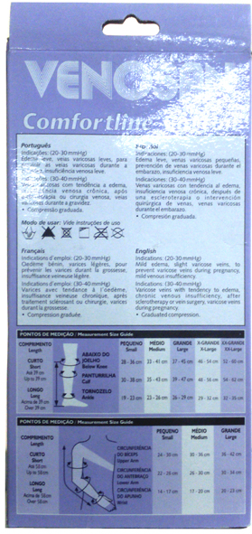 Venosan Comf. Cotton 30-40 Ad Pé Aberto Cor: Bege Tam: G/L