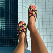 Chinelo Bordado Primavera