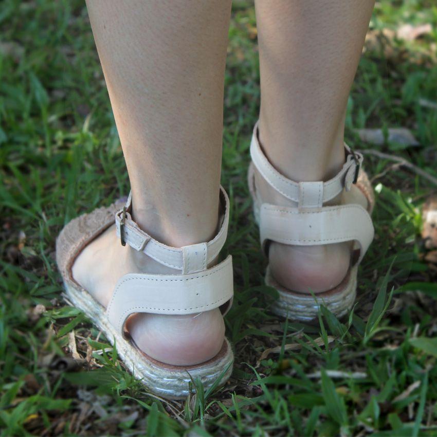 Sandália Crochê Solado Duplo