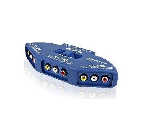Chave Seletora Áudio E Vídeo 3 Entrada 1 Saída - Com Cabo  - LD Cabos Soluções Áudio e Vídeo