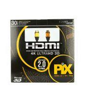 Cabo HDMI 2.0 - 4K Ultra HD 3D - 30 Metros