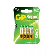 Pilha Super Alcalina AAA 1,5V Embalagem C / 4 Peça
