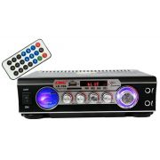 Amplificador Para Som Ambiente Bluetooth Usb Karaokê FM - LE706