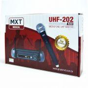 Microfone Sem Fio UHF-202 Profissional R201 - MXT