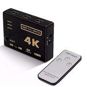 Switch hdmi 3 Entradas 1 Saída 4K Com Controle