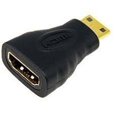 Adaptador Mini HDMI Macho Para HDMI Fêmea  - LD Cabos Soluções Áudio e Vídeo