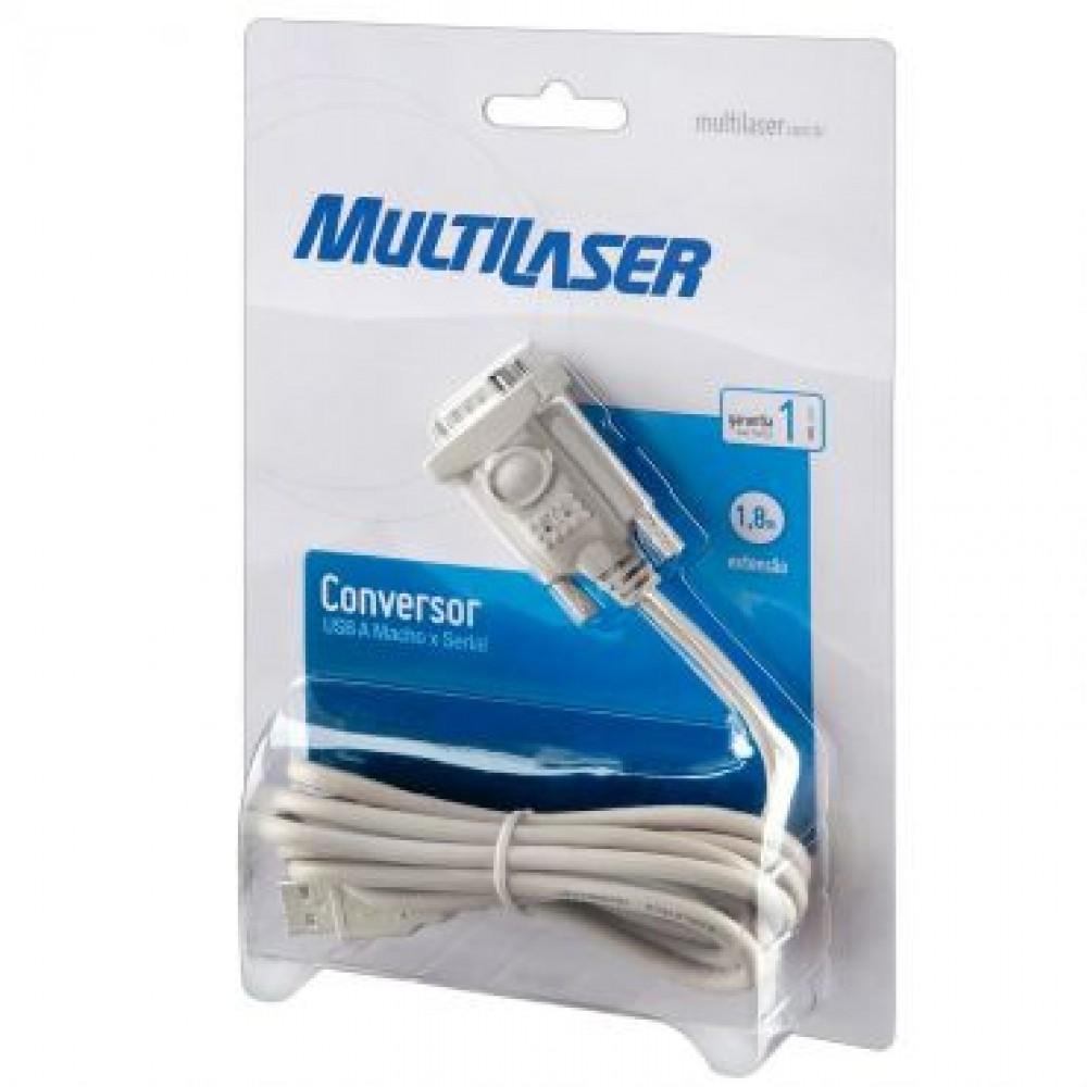 Cabo Conversor USB Para Serial - Multilaser  - LD Cabos Soluções Áudio e Vídeo