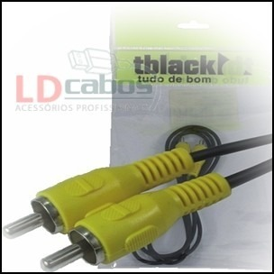 Cabo Rca 1 + 1 Video T Black 12 Mt Ld Cabos  - LD Cabos Soluções Áudio e Vídeo