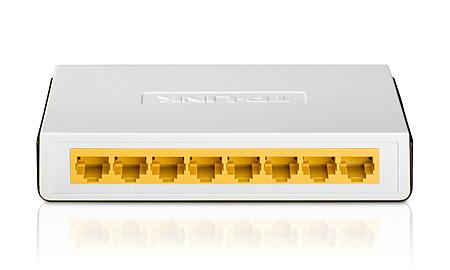 Switch 8 Portas Gigabit 10/ 100 mbps-TP LINK TL-SF1008D  - LD Cabos Soluções Áudio e Vídeo