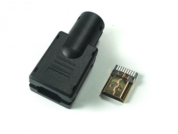 Conector HDMI Macho Para Solda C / Capa Plastica  - LD Cabos Soluções Áudio e Vídeo