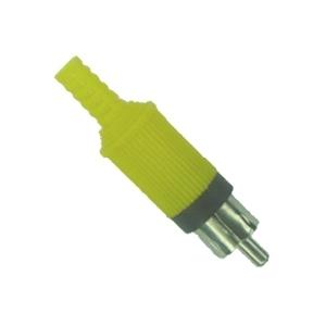 Conector RCA Macho Amarelo Plástico Para Cabo  - LD Cabos Soluções Áudio e Vídeo