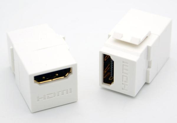 Keystone HDMI Fêmea Para Fêmea - Painel  - LD Cabos Soluções Áudio e Vídeo
