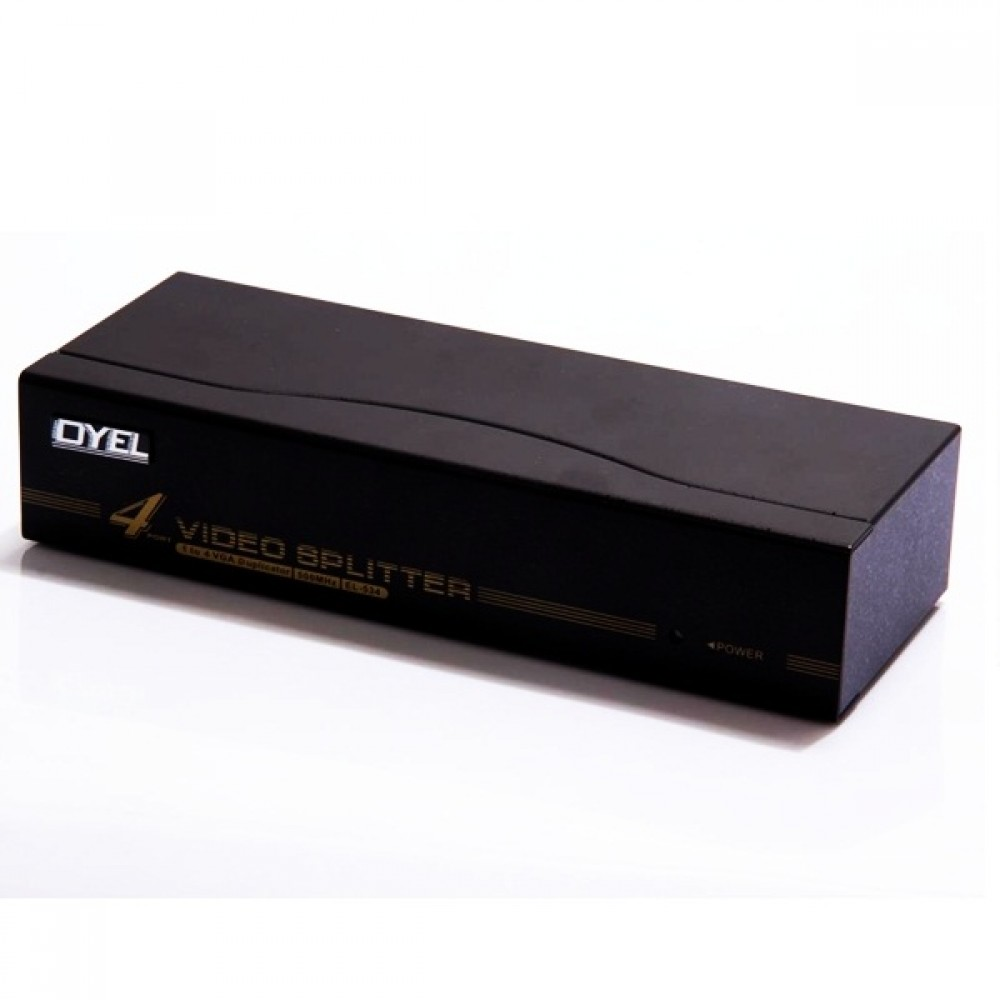 Distribuidor VGA 1 X 4 Amplificado 500 MHz  - LD Cabos Soluções Áudio e Vídeo