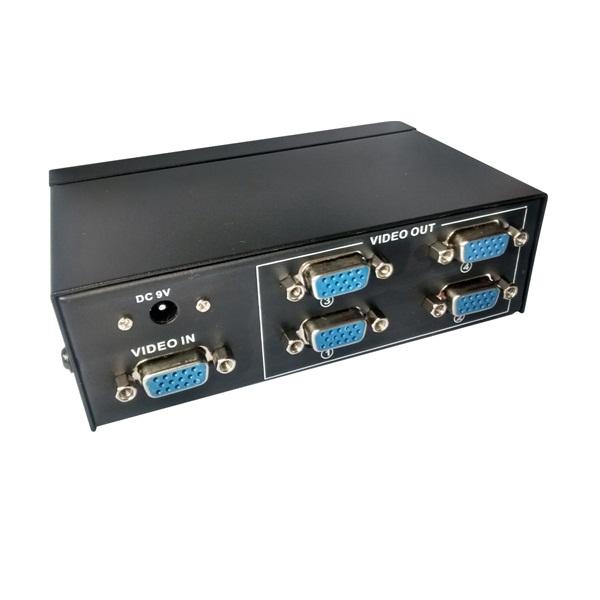 Distribuidor VGA 1 Entrada Para 4 Saídas  - LD Cabos Soluções Áudio e Vídeo