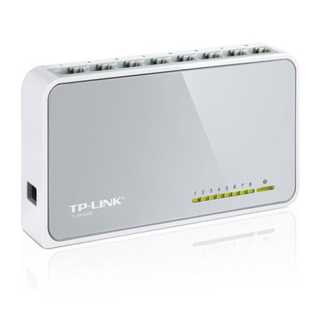 Switch 8 Portas TP-Link 10/100 Mbps TL-SF1008D  - LD Cabos Soluções Áudio e Vídeo
