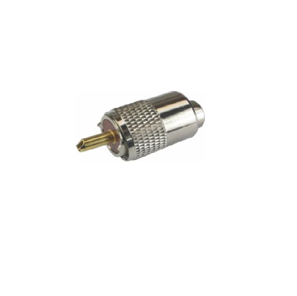 Conector UHF Com Redutor Para Cabo RG6 5 MM Embalagem C /10 Peça  - LD Cabos Soluções Áudio e Vídeo