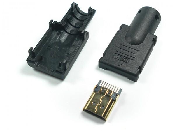 Conector HDMI Macho Para Solda Embalagem C /10 Peça  - LD Cabos Soluções Áudio e Vídeo