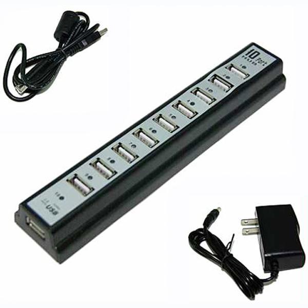 Hub USB 10 Portas C / Fontes   - LD Cabos Soluções Áudio e Vídeo