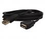 Cabo Extensão USB Com Filltro Embalagem 5 Peças - 3 Metros