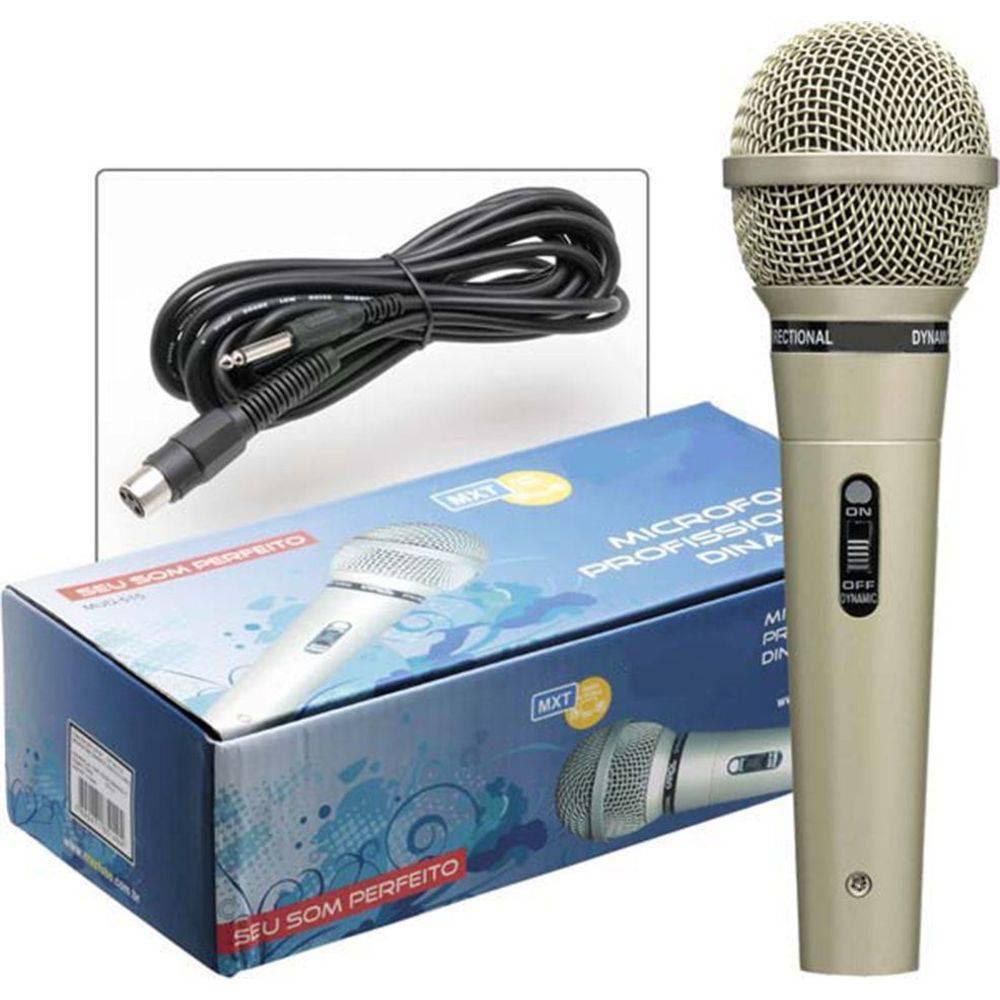 Microfone Com Fio Profissional Dinâmico M-515 - MXT  - LD Cabos Soluções Áudio e Vídeo