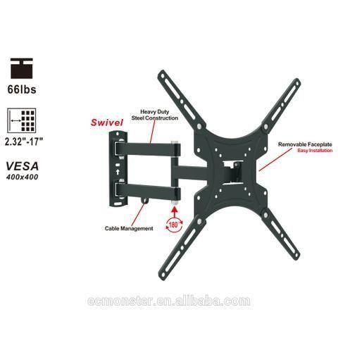 Suporte Para TV Triarticulado 23 a 55 AR-E15SB  - LD Cabos Soluções Áudio e Vídeo