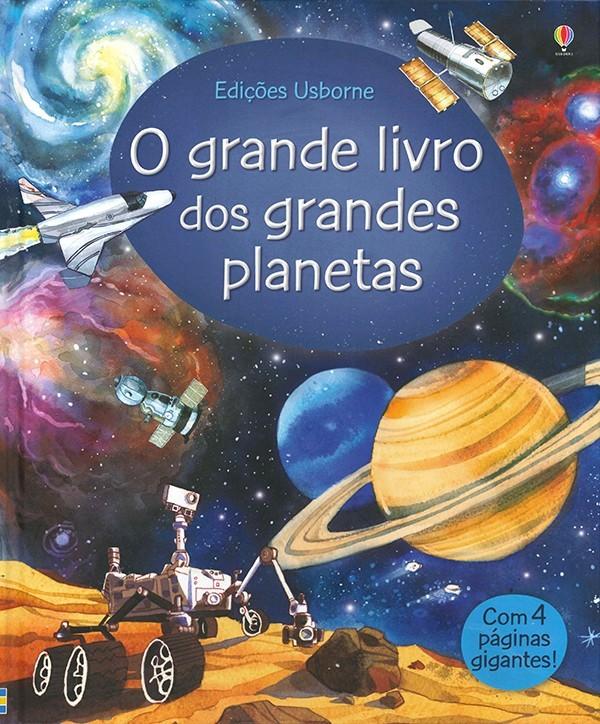 Livro O Grande Livro dos Grandes Planetas e Estrelas Usborne
