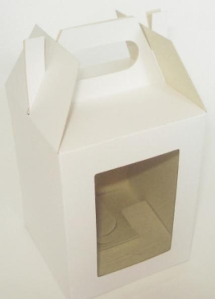 Caixa Para Caneca Tipo Maleta Com Visor Frontal Personalizada Lrf