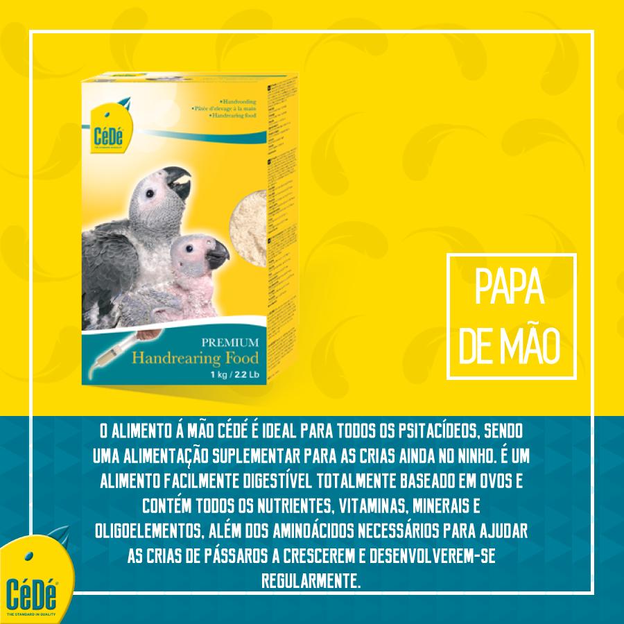 Alimentação à Mão - Kg (Papa á Mão)  - CéDé Brasil