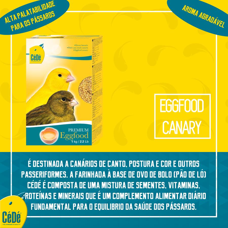 Eggfood Canaries (Canários) Kg  - CéDé Brasil