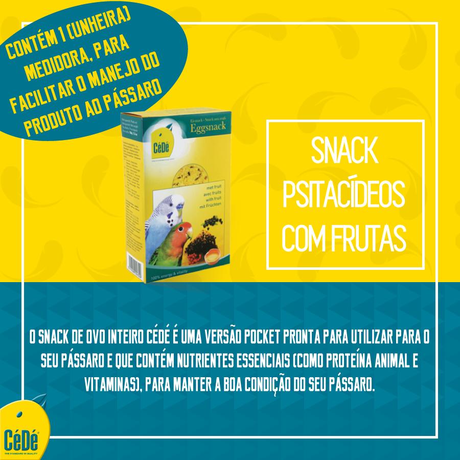 Snack com Fruta para Periquitos 150g/ Cx  - CéDé Brasil