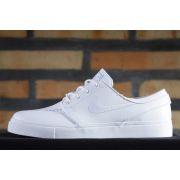Tênis Nike SB - Zoom Stefan Janoski Leather White/White-Wolf