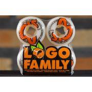 Roda OJ - Logo Family White 54mm