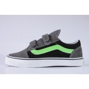 Tênis Vans - Kids Old Skool V Pewter/Green Flash