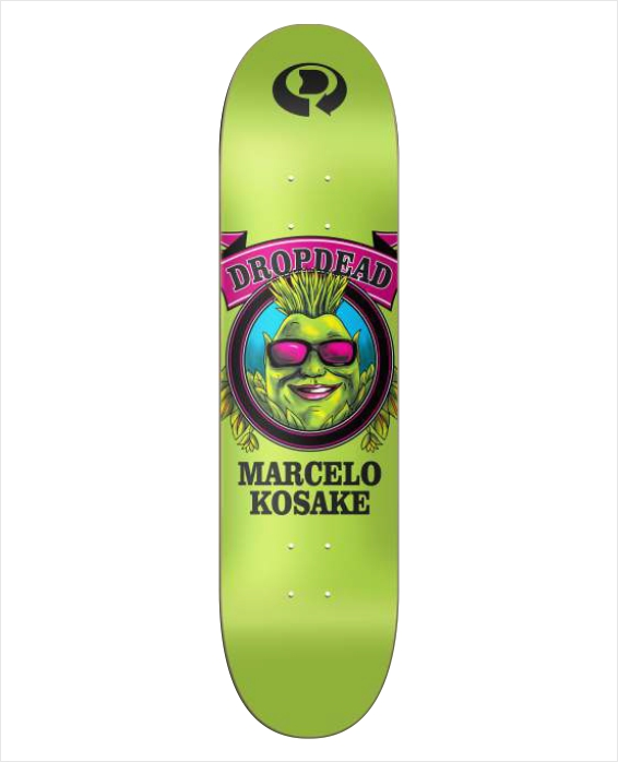 "Shape Dropdead - Heat Transfer Pro Model Grower Marcelo Kosake 8.2""  - No Comply Skate Shop"