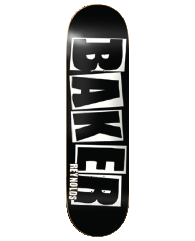 "Shape Baker - Andrew Reynolds Brand Name 8.0""  - No Comply Skate Shop"