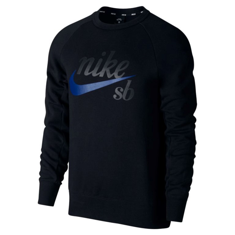Blusão Nike SB - Top Icon CRW GFX HRTG Black/Hyper Royal  - No Comply Skate Shop