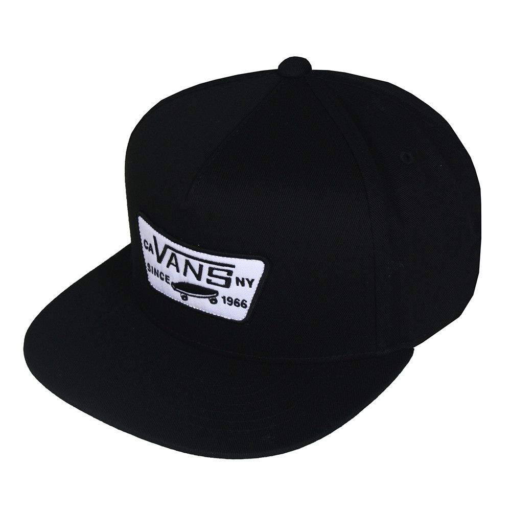 Boné Vans - Full Patch Snapback True Black  - No Comply Skate Shop