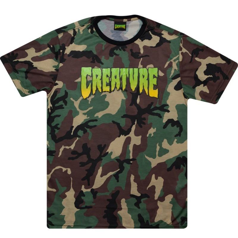 Camisa Creature - Especial Logo Camo  - No Comply Skate Shop