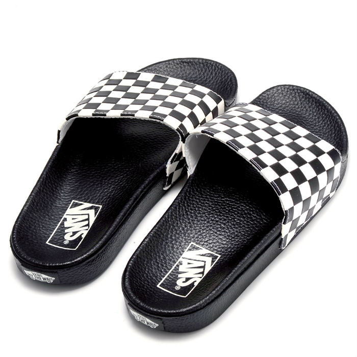 794c85f0337 Chinelo Vans - M Slide-ON Checkerboard White - No Comply Skate Shop ...