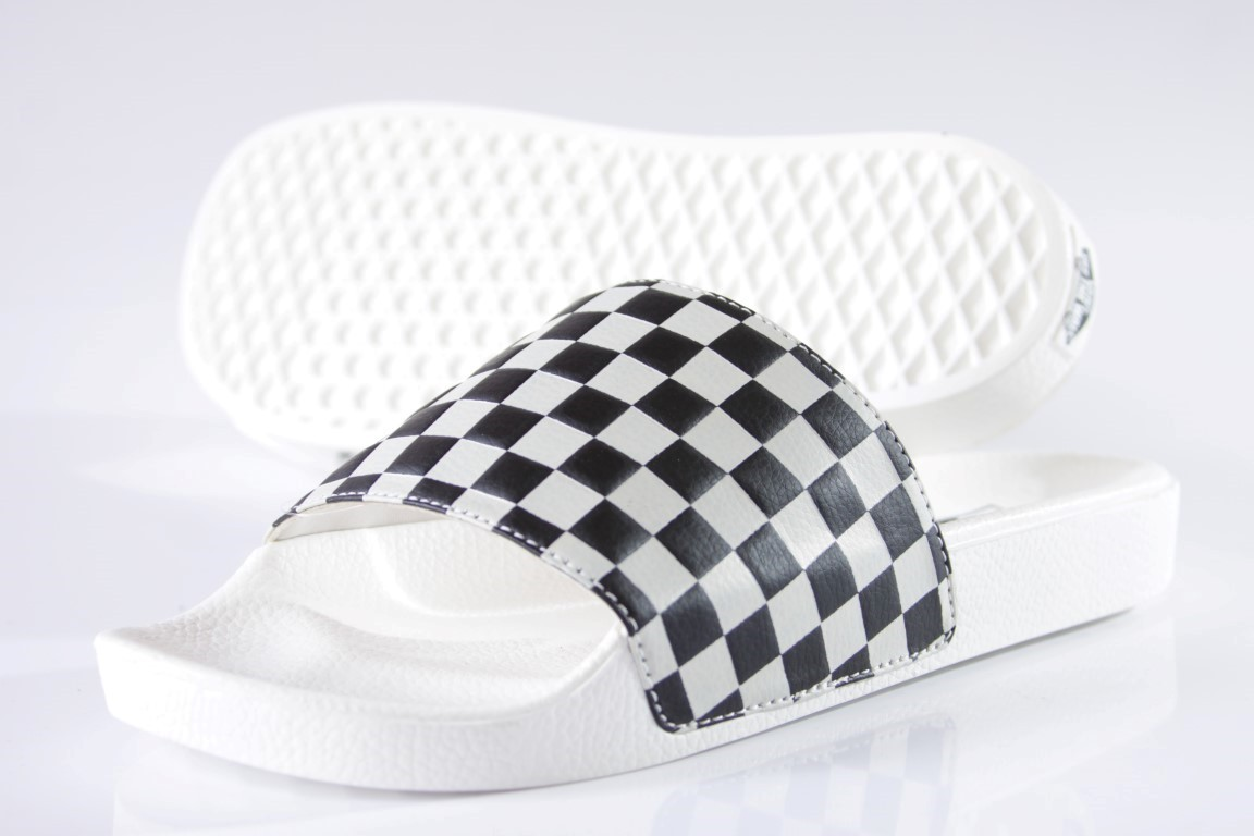 Chinelo Vans - WM Slide-ON Checkerboard White/Black  - No Comply Skate Shop