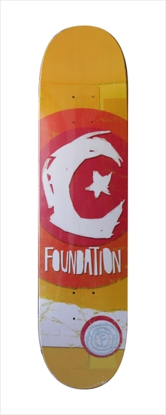 """Shape Foundation - S & M Party Logo Orange 7.5""""  - No Comply Skate Shop"""