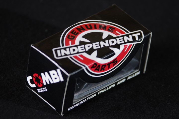 "Parafuso de Base Independent - Combi Bolts 1"" Black (Allen + Phillips) - No Comply Skate Shop"