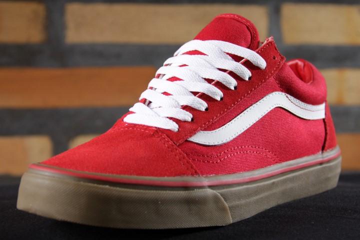 tenis vans old skool vermelho