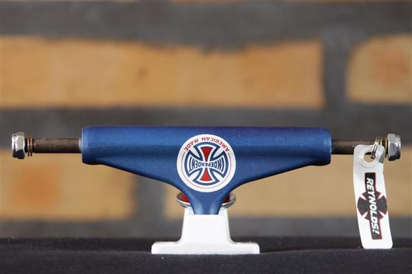 Truck Independent - 129 Stage 11 Reynolds II LTD Hollow Blue/White Standard  - No Comply Skate Shop