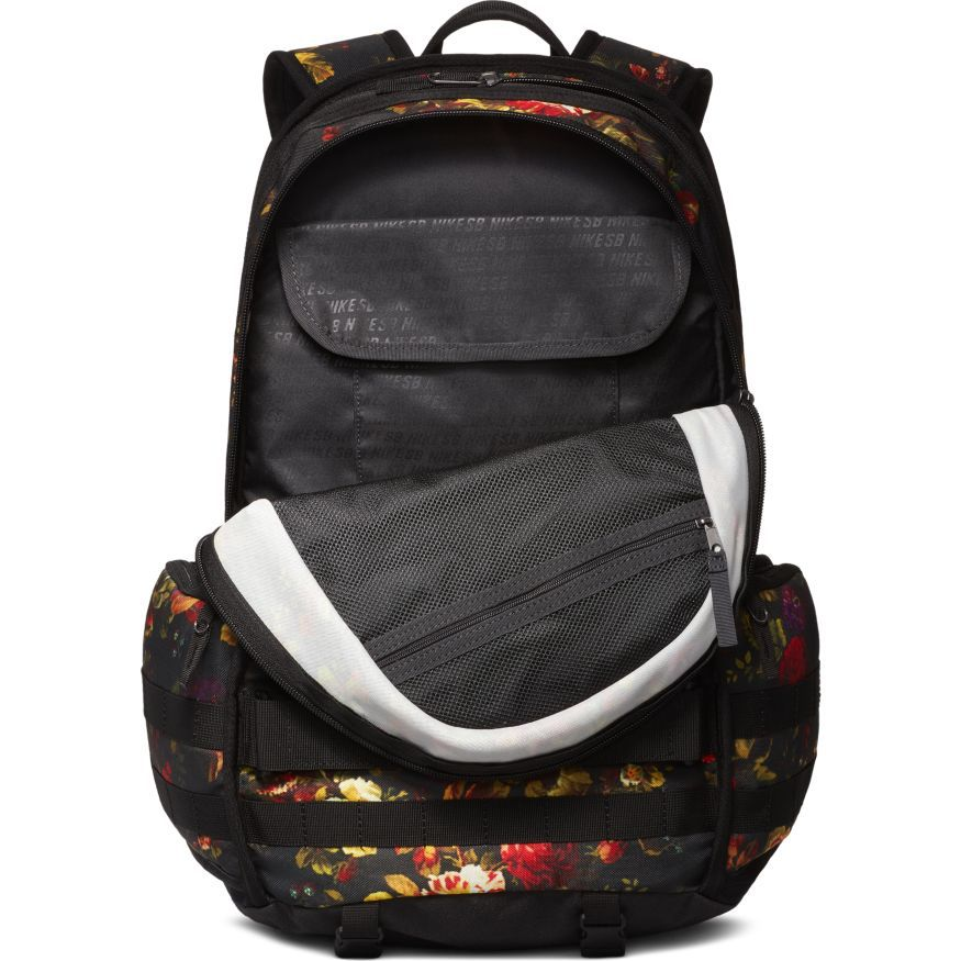 Mochila Nike SB - RPM Graphic Skate Backpack Black/Floral - No Comply Skate Shop