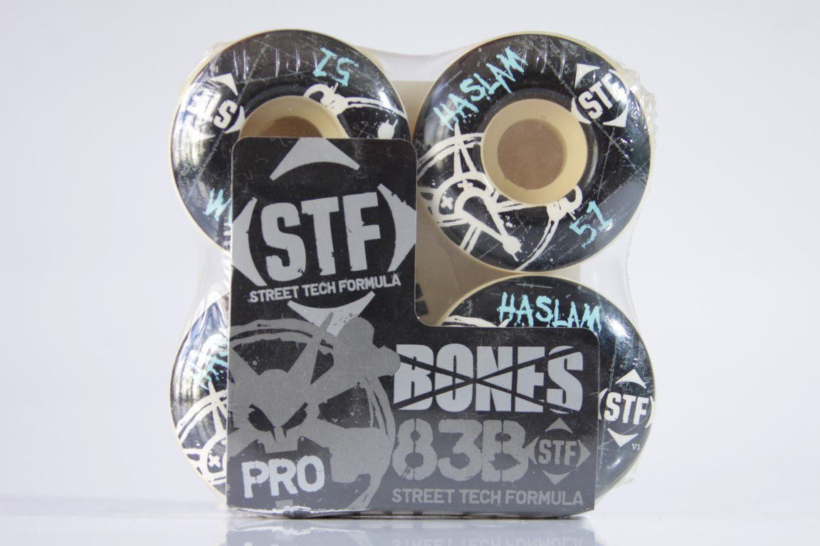 Roda Bones - STF Streettech V1 Haslam 51mm  - No Comply Skate Shop